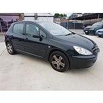 8/2003 Peugeot 307 2.0 5d Hatchback Black 2.0L