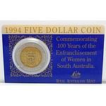 Australian $5 Coin 1994 Bi-Metal