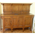 Arts and Crafts Solid Maple Sideboard Circa 1910