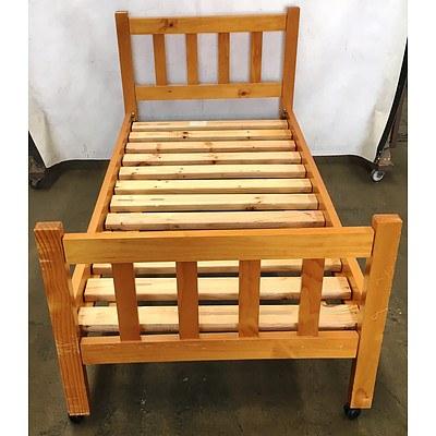 Mobile Pine Bed Frame