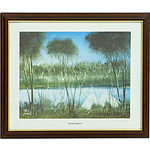 Pro Hart (1928-2006) Hand Signed Print Swamp Birds