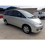 6/2003 Toyota Tarago GLi ACR30R 4d Wagon Silver 2.4L