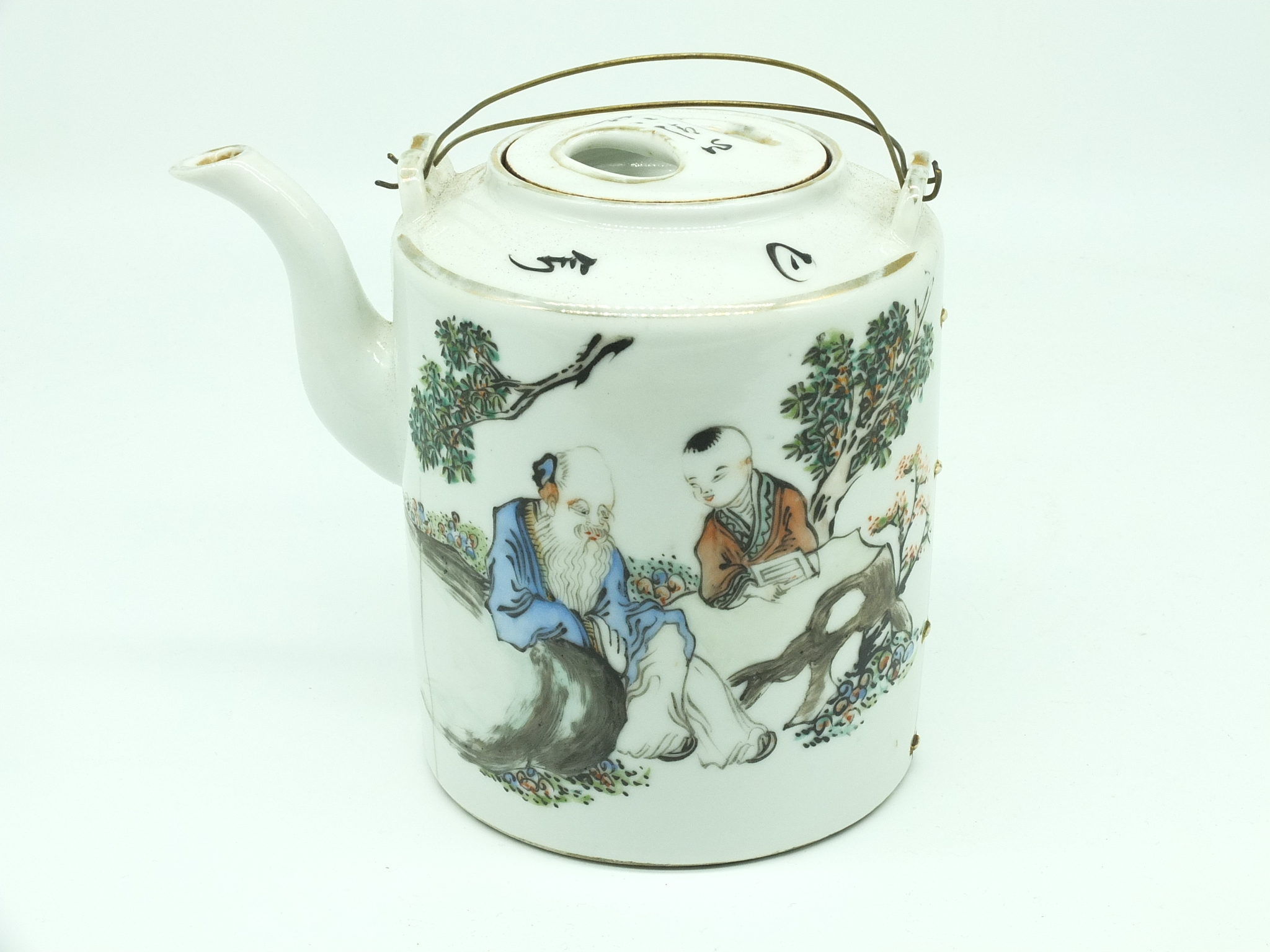 'Chinese Export Famille Rose Porcelain Teapot Early 20th Century'