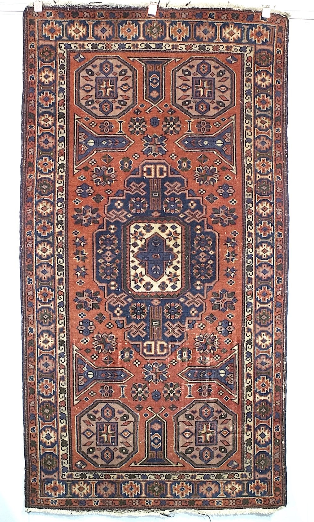 'Caucasian Hand Knotted Wool Pile Rug, Mid 20th Century'