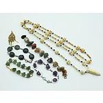 Group of Bone, Agate and Gemstone Jewellery