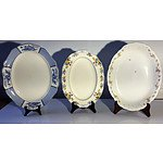 Group of Five English Porcelain Trays Including Alfred Meakin, Gridley and more