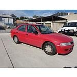 4/2001 Mitsubishi Lancer GLi CE 4d Sedan Red 1.8L