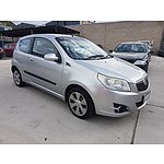 01/2009 Holden Barina TK Hatch Back Silver 1.6L