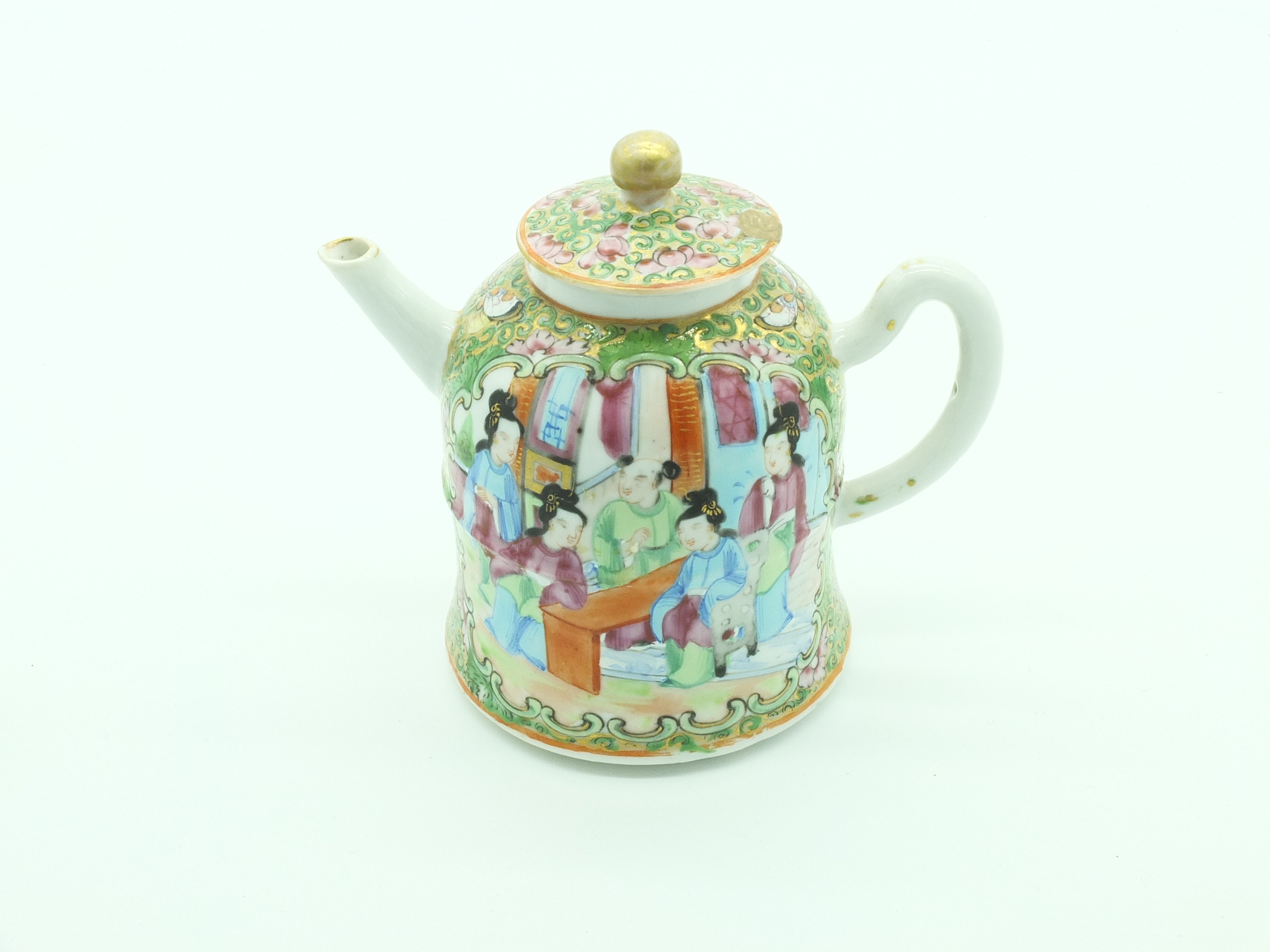 'Chinese Export Famille Rose Teapot Late 19th Century'