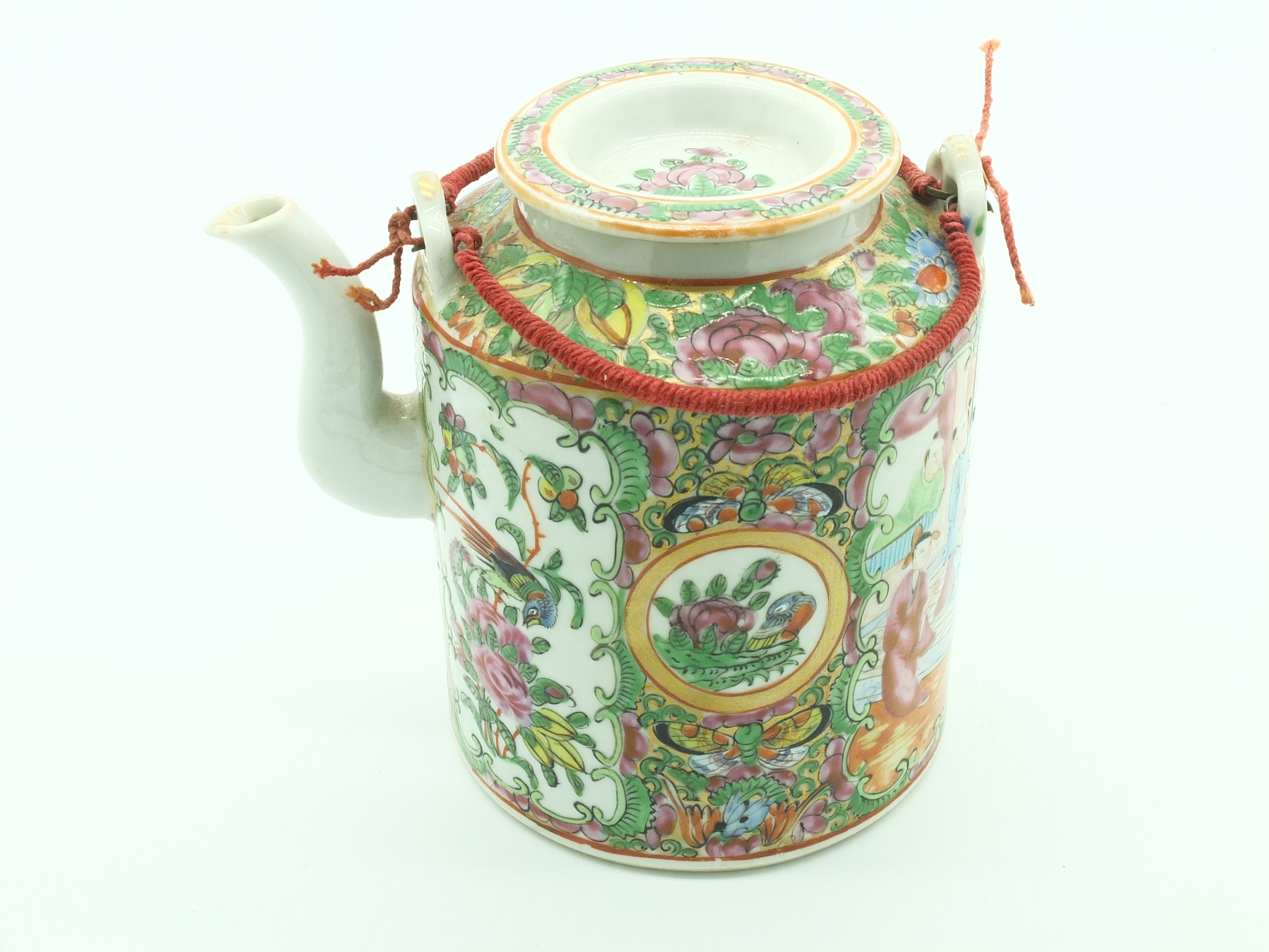 'Chinese Export Famille Rose Teapot Early 20th Century'