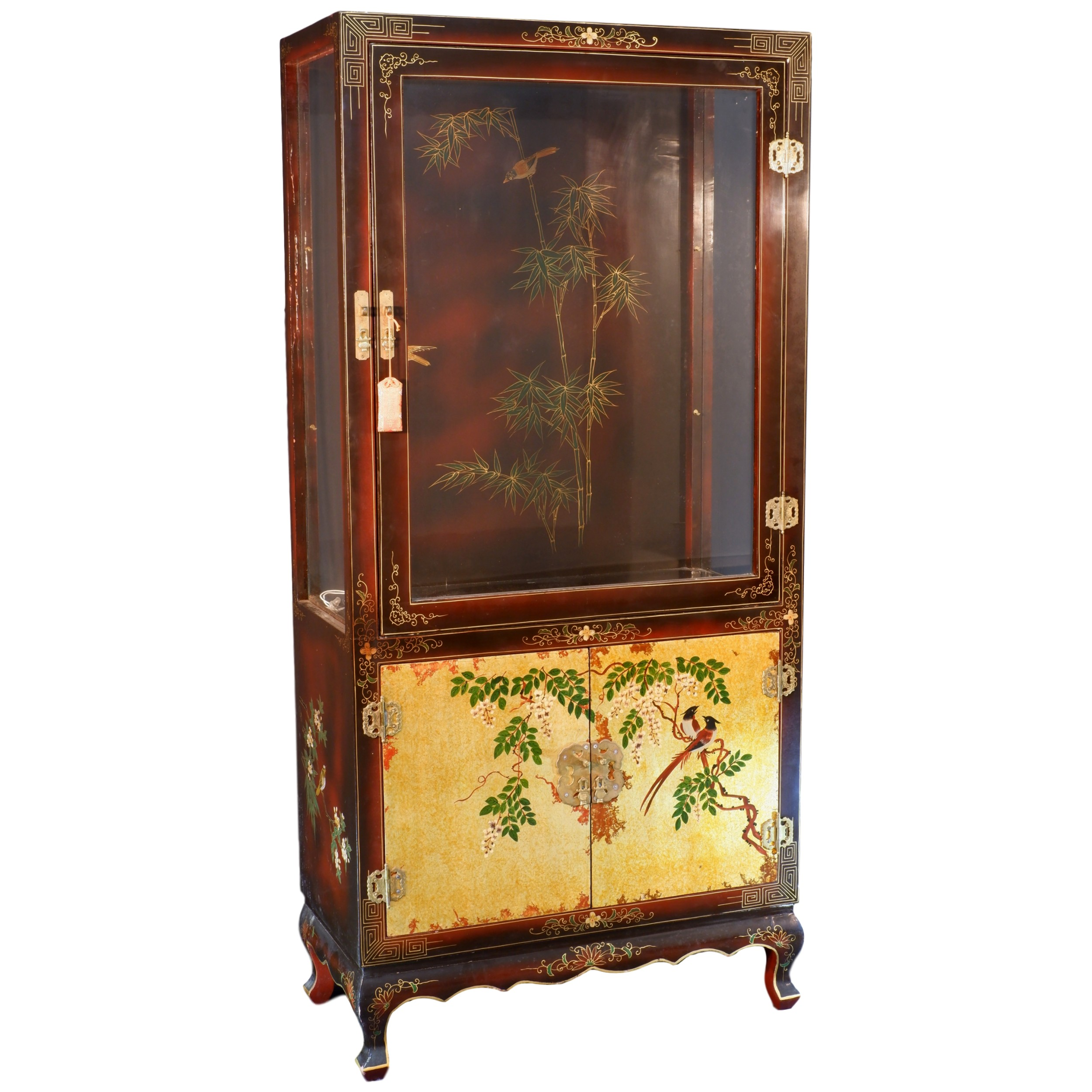'Chinese Lacquered Display Cabinet 20th Century'