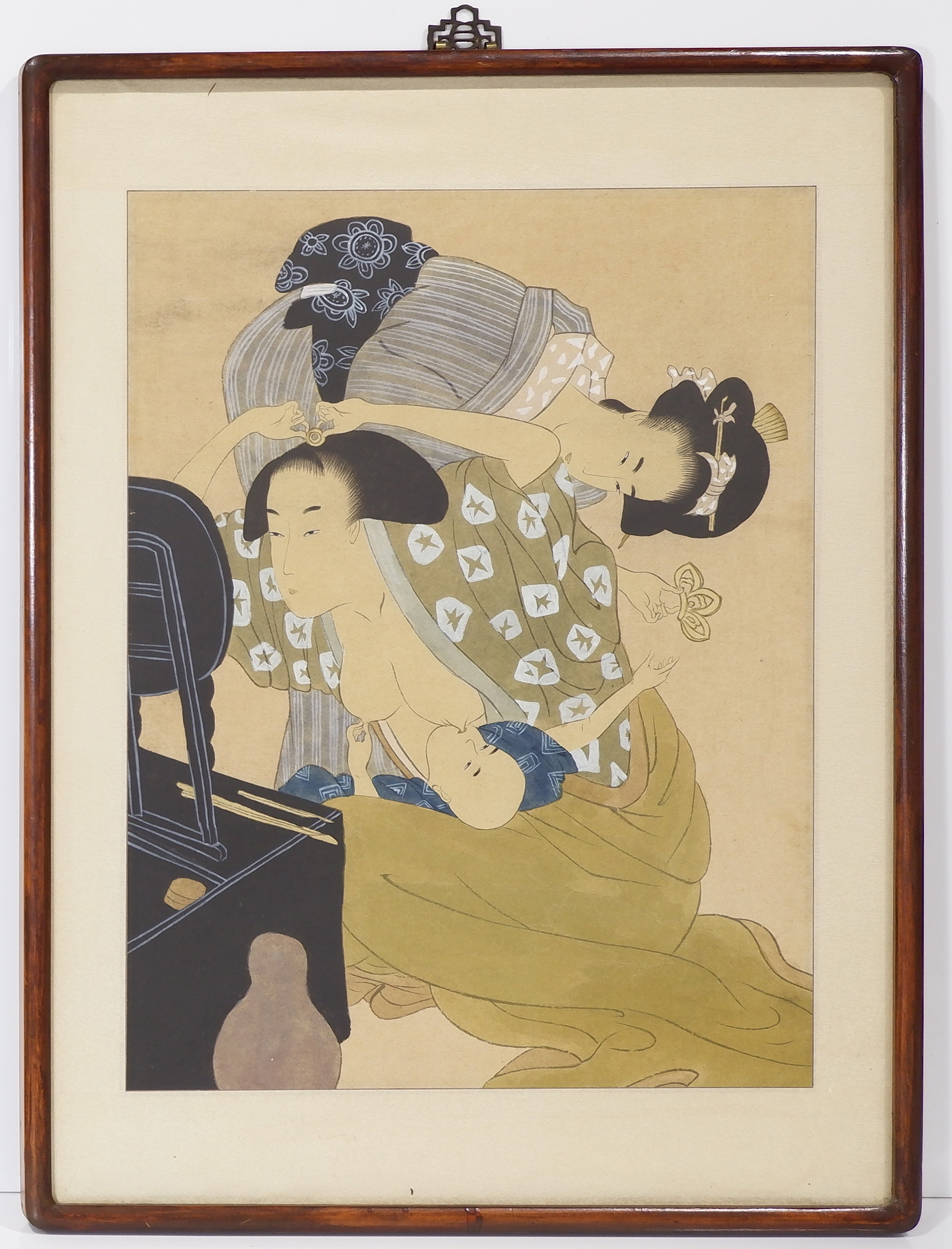 'Early Well Framed Original Japanese Woodblock Print'