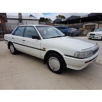 5/1990 Toyota Camry CS SV21 4d Sedan White 2.0L