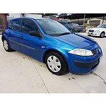 1/2004 Renault Megane Authentique X84 5d Hatchback Blue 1.6L