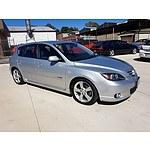 4/2004 Mazda Mazda3 SP23 BK 5d Hatchback Silver 2.3L