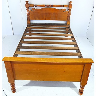 Tasmanian Huon Pine King Single Bed