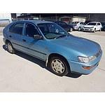 10/1996 Toyota Corolla Conquest SECA AE102R 5d Liftback Blue 1.8L