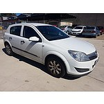 5/2007 Holden Astra CD AH MY07 5d Hatchback White 1.8L