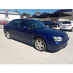 5/2002 Subaru Liberty RX MY02 4d Sedan Blue 2.5L