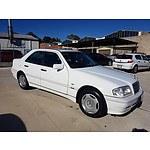11/1999 Mercedes-Benz C180 Classic W202 4d Sedan White 1.8L