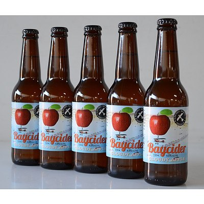 Case of 24 Baycider Cloudy Apple Cider 330ml Bottles - RRP $72.60