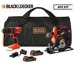 Black & Decker 18V Drilldriver & Circular Saw 6-Piece Kit - RRP $229 - Brand New