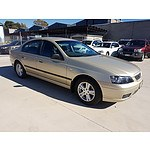 10/2005 Ford Falcon XT BF 4d Sedan Gold 4.0L