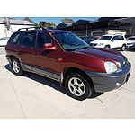 10/2002 Hyundai Santa Fe GLS (4x4)  4d Wagon Red 2.7L