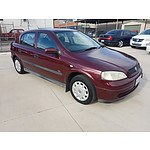 12/2003 Holden Astra CITY TS 5d Hatchback Red 1.8L