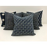 Cloth & Paper Studio - Set of Five Custom Made Cushions, RRP $550