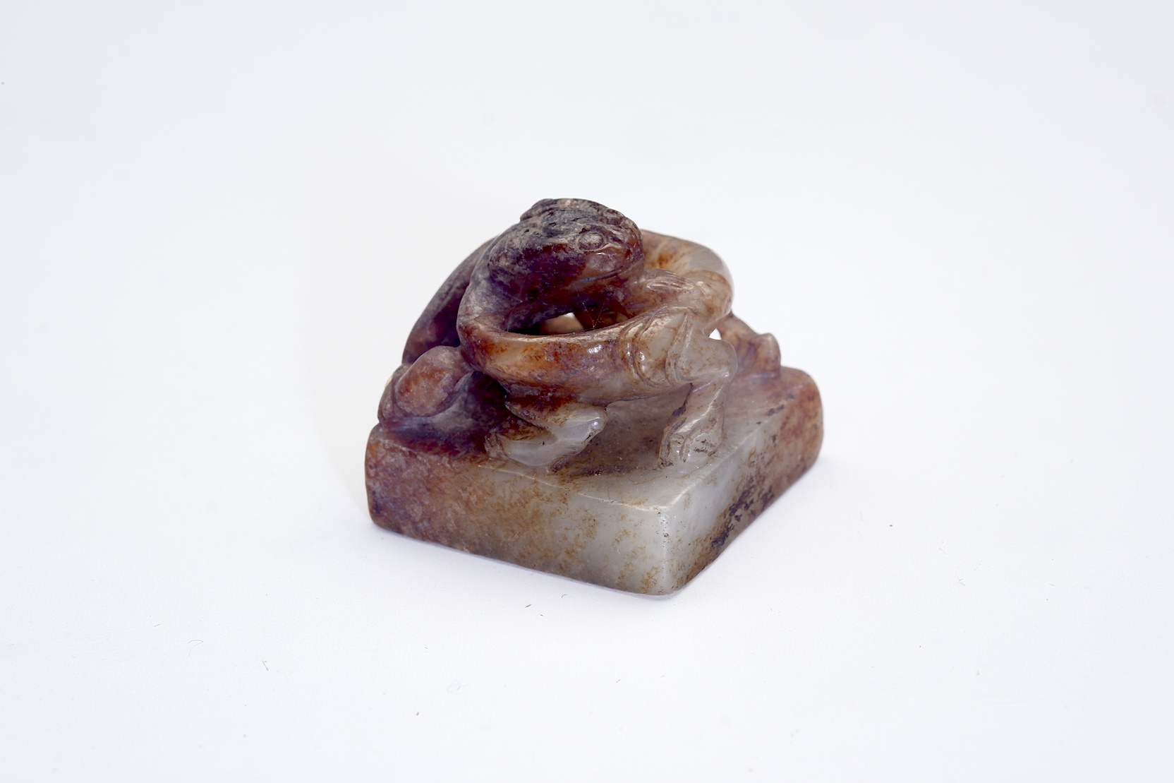 'Chinese Small Russet Jade Seal or Chop'