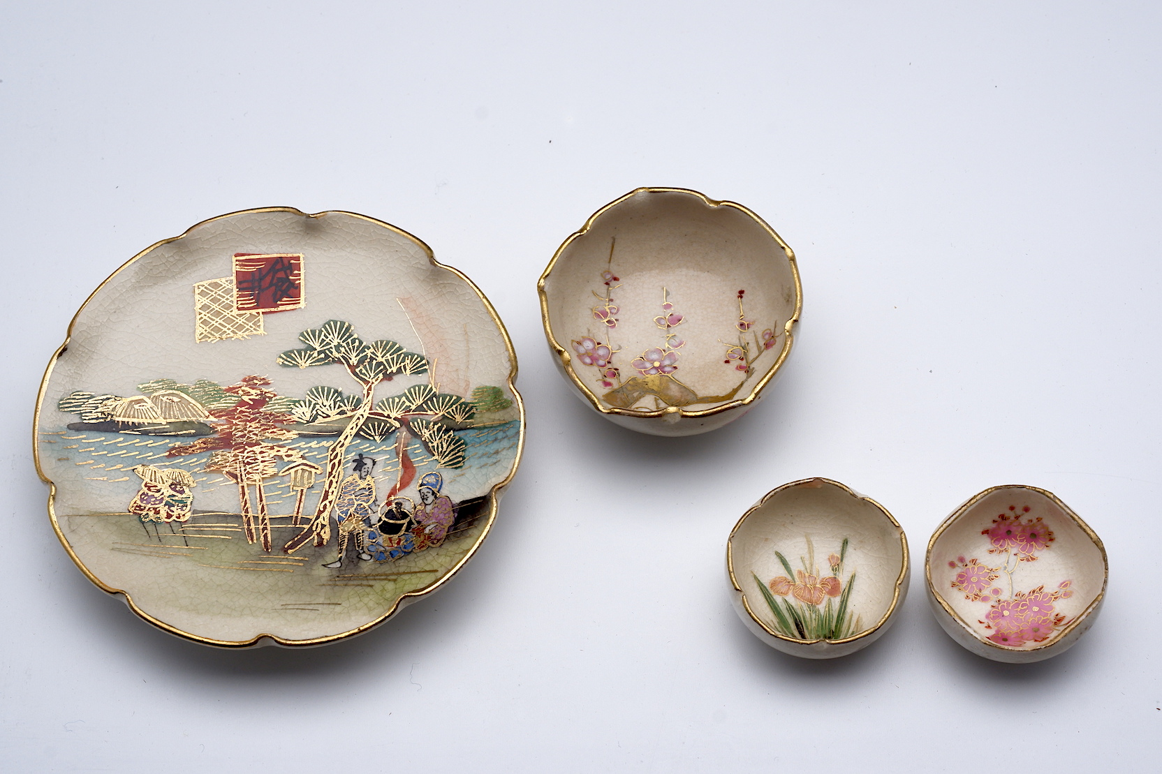 'Four Japanese Satsuma Miniatures'