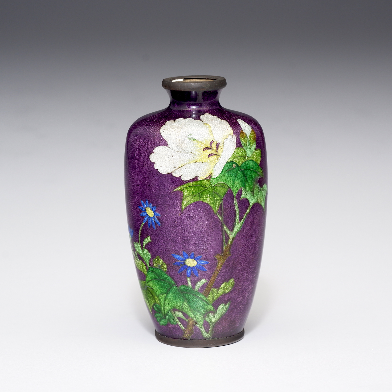 'Japanese Ginbari Enamel Vase, Early 20th Century'