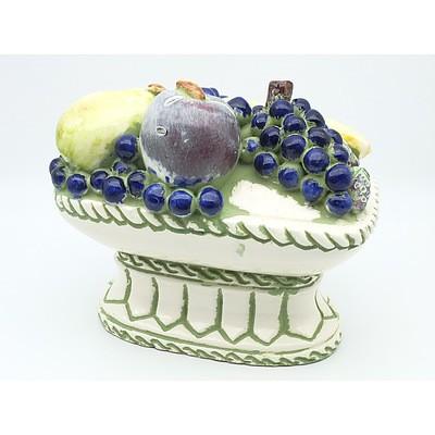 Glazed Ceramic Fruitbowl