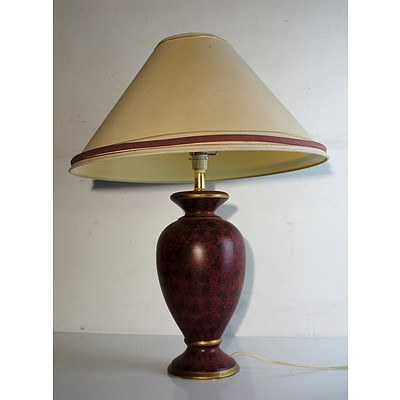 Decorative Red Table Lamp