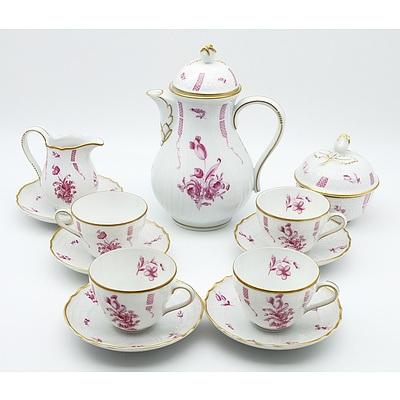 Hutschenreuther Dresden Sanssouci Porcelain Tea Service for Four
