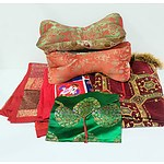Group of Oriental Quilts and Pillows