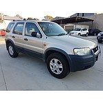 5/2002 Ford Escape Limited BA 4d Wagon Gold 3.0L