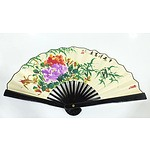 Classical Hand Painted Wide Paper Fan