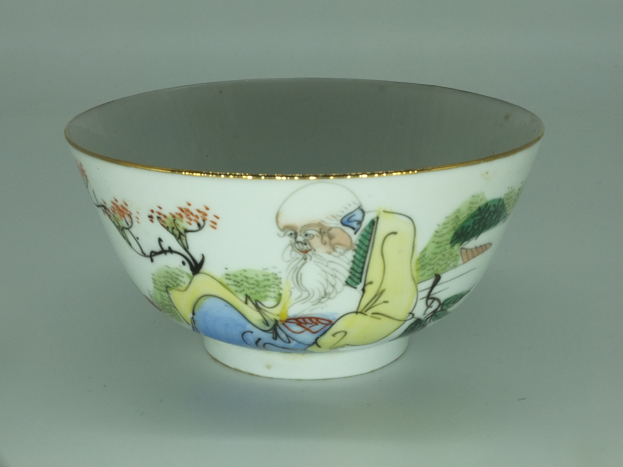 'Chinese Enamel Decorated Porcelain Bowl Republic Period 20th Century'