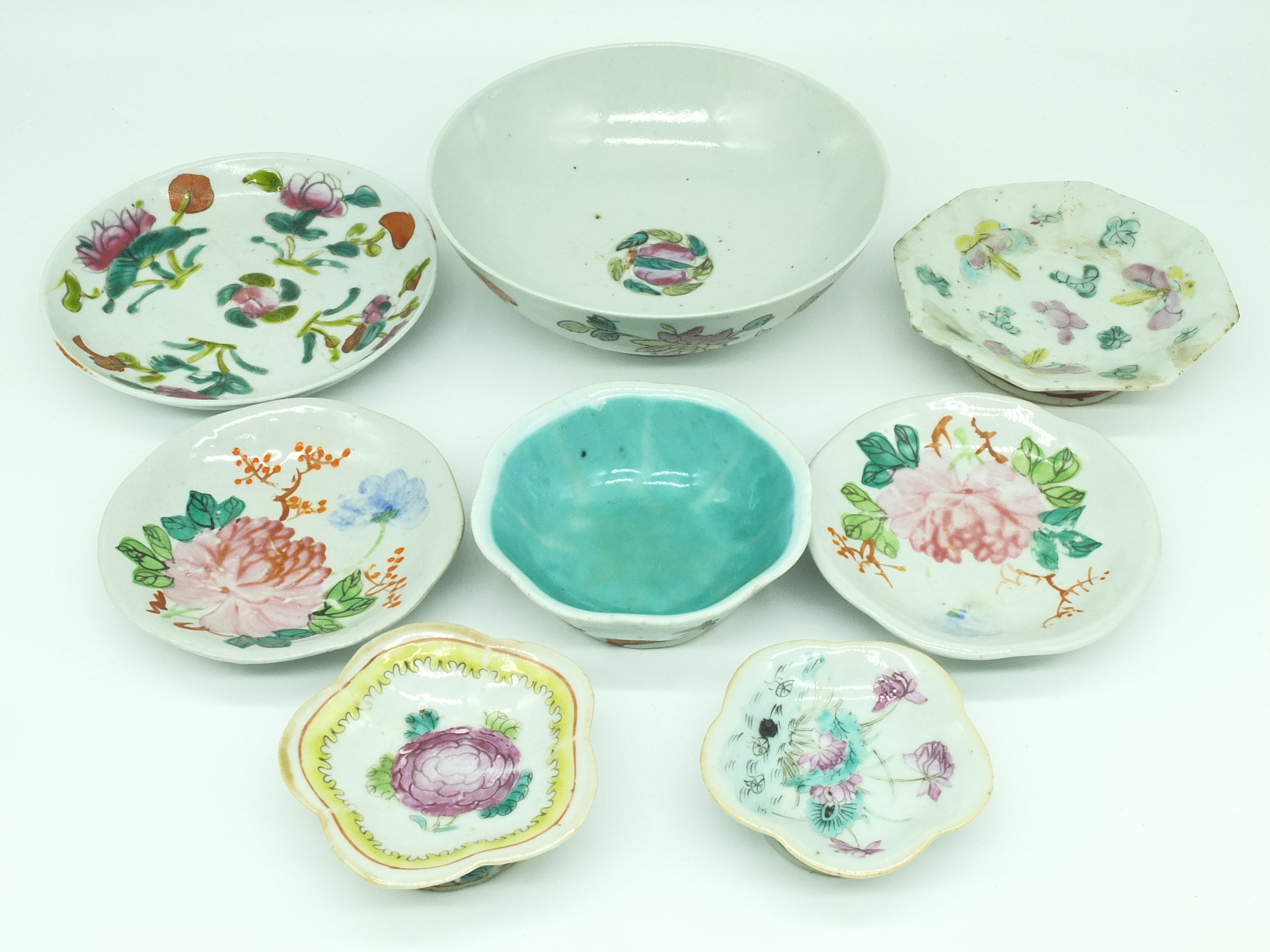 'Various Chinese Enamelled Porcelain Bowls and Dishes Mostly Late Qing'