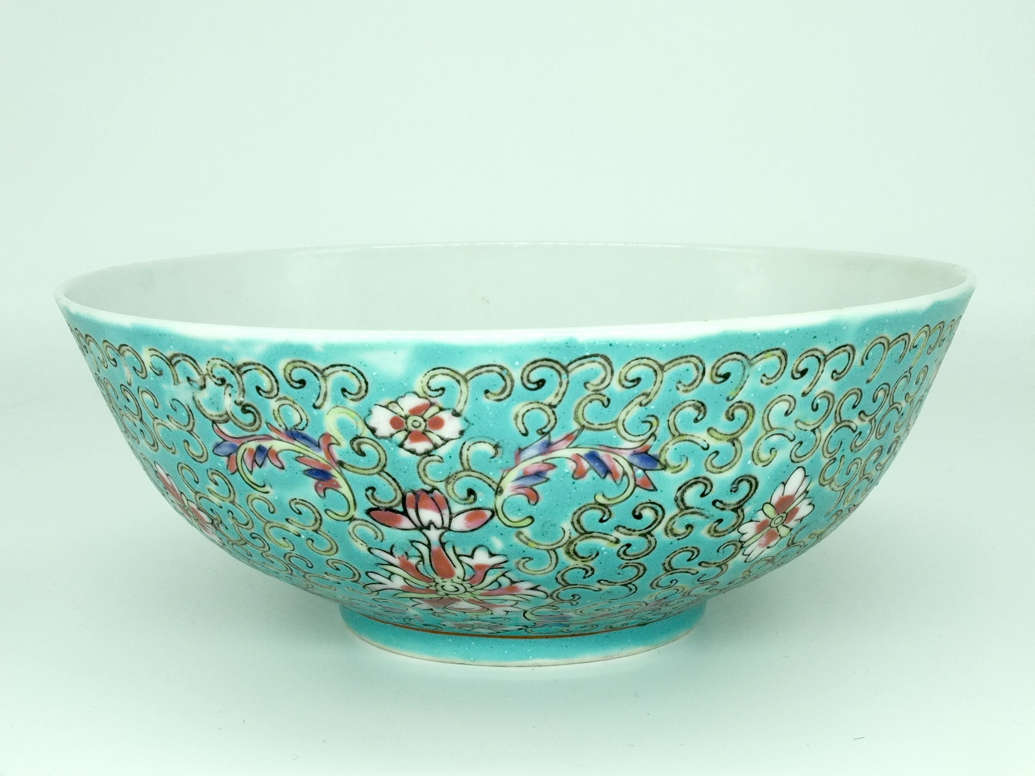 'Chinese Turquoise Ground Bowl Republic Period 20th Century'