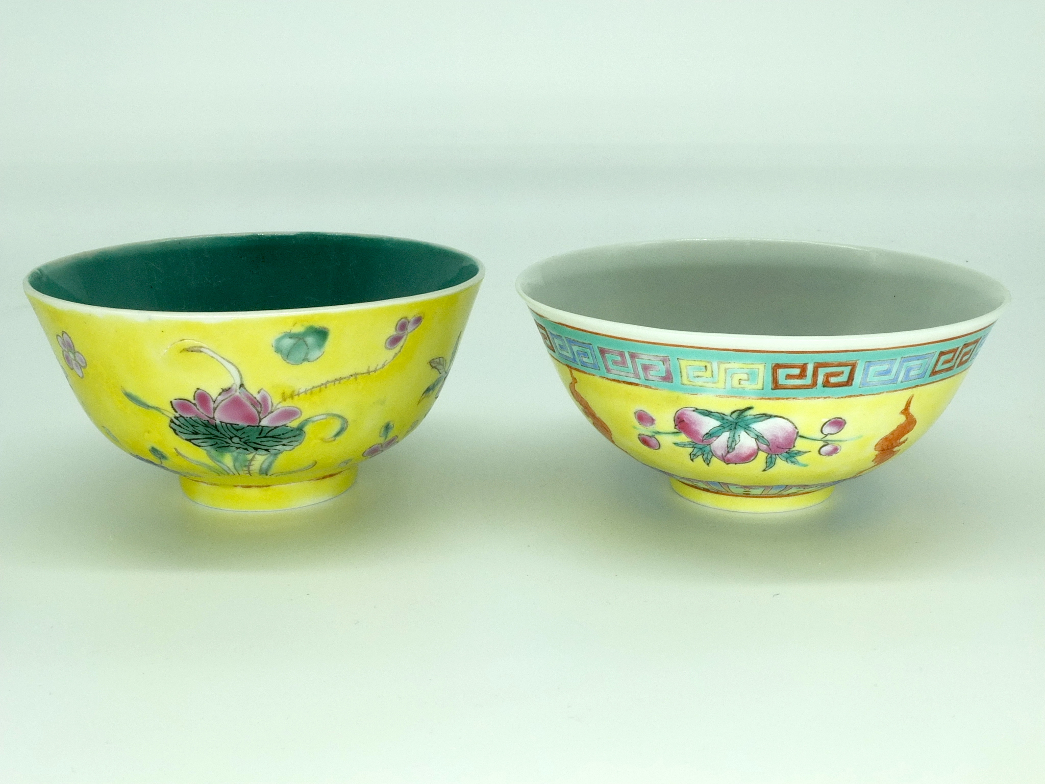 'Two Chinese Tea Bowls Late Qing and Republic Period'