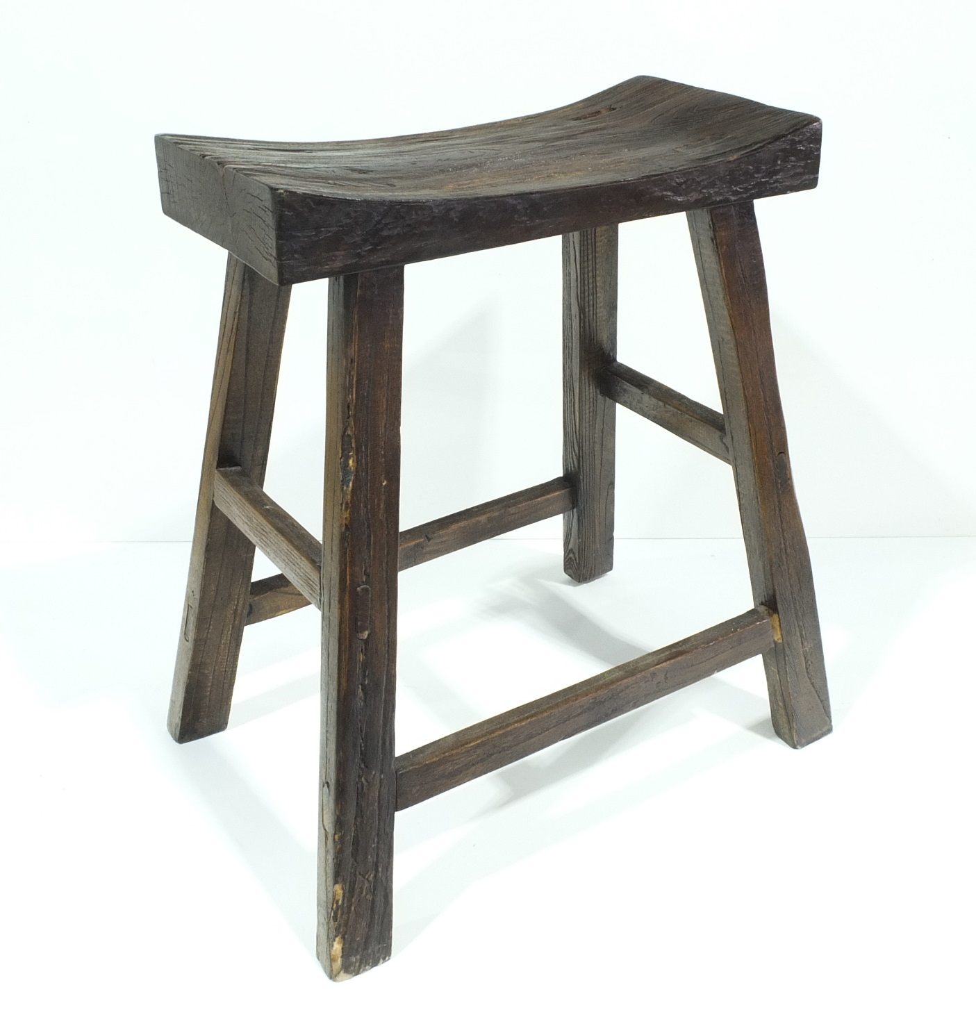 'Chinese Elm Stool, 20th Century'