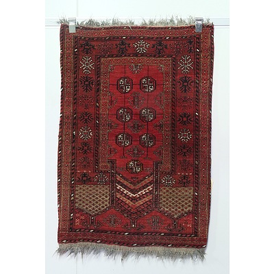 Hand Knotted Wool Pile Eastern Prayer Rug