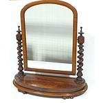 Victorian Mahogany Toilet Mirror Circa 1880