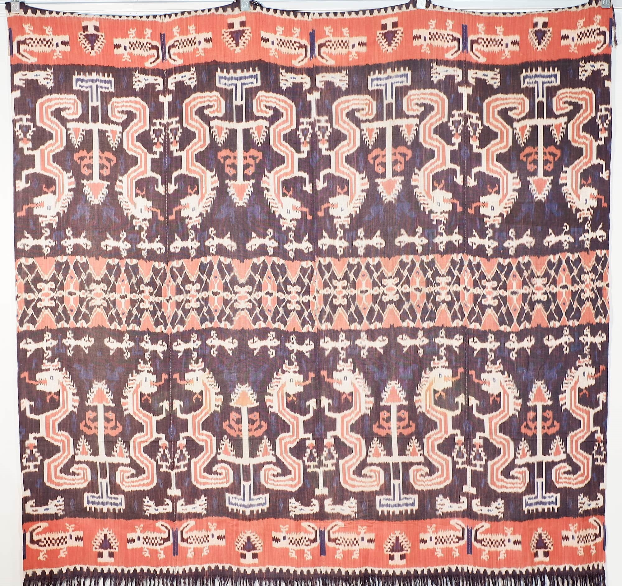 'Large Indonesian Sumba Ikat Ceremonial Cloth'