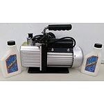 Rotary Vacuum Pump with Two Bottles of Oil