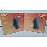 Belkin N300 Wireless Routers - Lot of Two