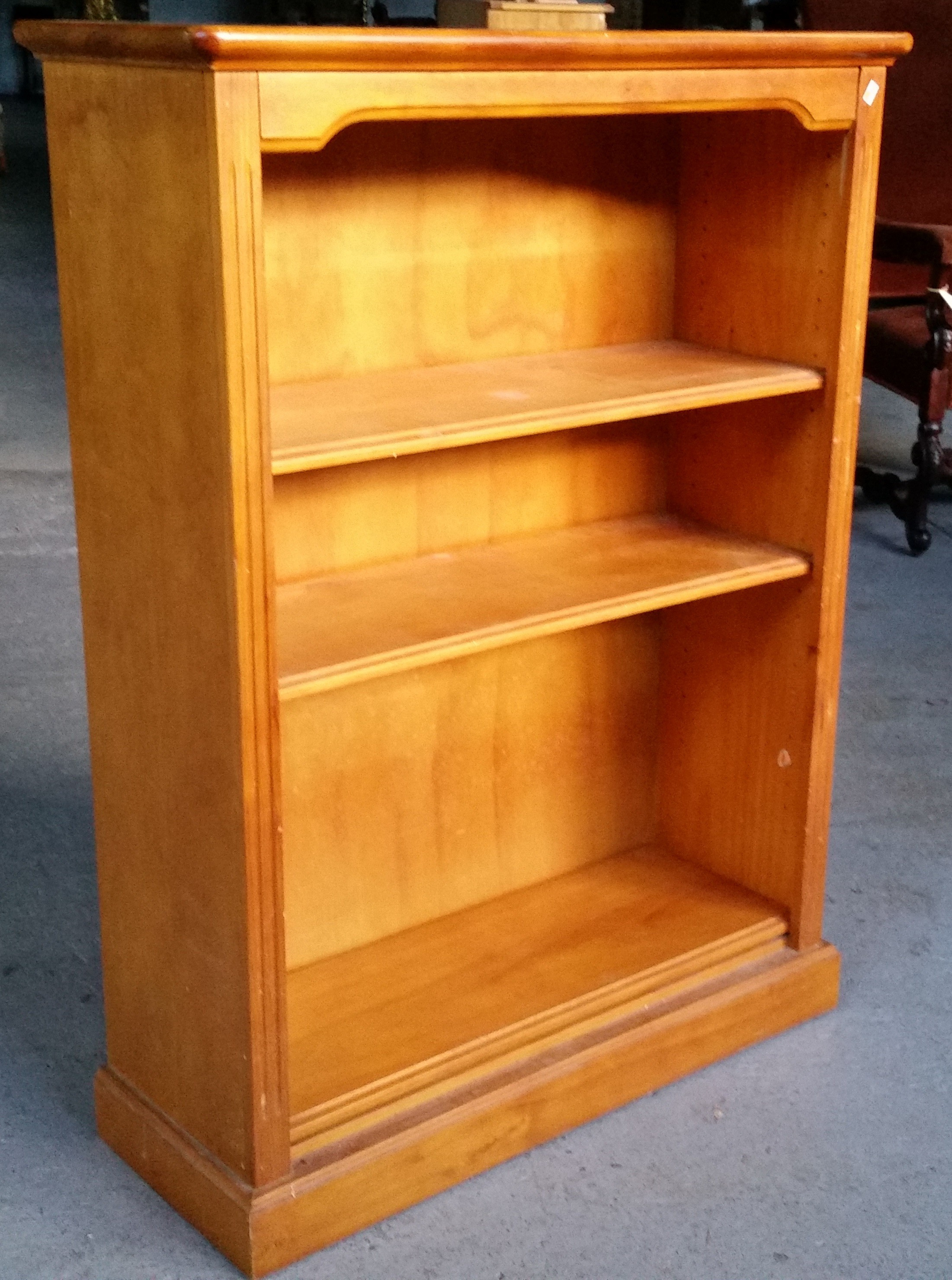 Honey Oak Veneer Bookcase